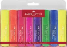 BLISTER 8 ROTULADORES FLUORESCENTES FABER-CASTELL