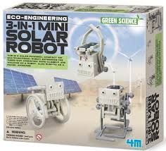 JUEGO 4M ECO-ENGINEERING 3 IN 1 MINI SOLAR ROBOT