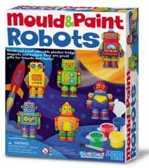 JUEGO 4M MOULD & PAINT ROBOTS