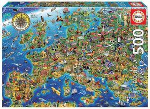 PUZZLE EDUCA 500 PIEZAS MAPA DE EUROPA