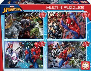 MULTIPUZZLE EDUCA SPIDERMAN 50-80-100-150 PIEZAS