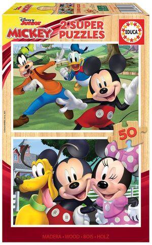 JUEGO 2 PUZZLES EDUCA 50 PIEZAS MADERA MICKEY & FRIENDS