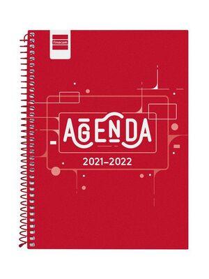 AGENDA ESCOLAR 2021-2022 FINOCAM COOL ROJO 4º SEMANA VISTA
