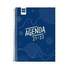 AGENDA ESCOLAR 2021-2022 FINOCAM COOL AZUL 4º SEMANA VISTA
