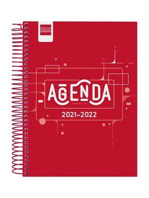 AGENDA ESCOLAR 2021-2022 FINOCAM COOL ROJO 4º DIA PAGINA