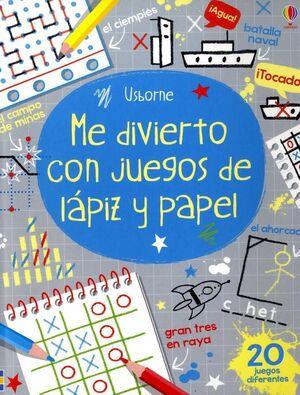 ME DIVIERTO CON JUEGOS DE LAPIZ Y PAPEL