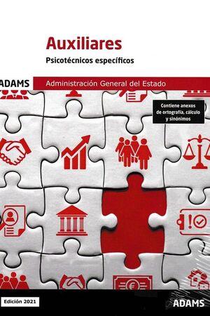 AUXILIARES ADMINISTRACION GENERAL DEL ESTADO PSICOTECNICOS ESPECIFICOS