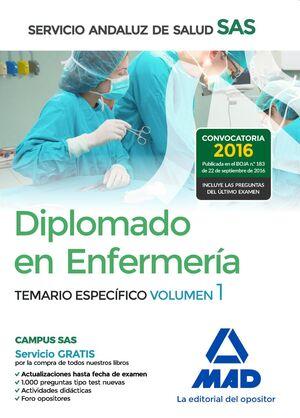 DIPLOMADO EN ENFERMERÍA DEL SERVICIO ANDALUZ DE SALUD. TEMARIO ESPECÍFICO VOLUME