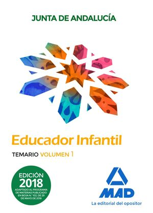EDUCADORES INFANTILES. PERSONAL LABORAL DE LA JUNTA DE ANDALUCÍA. TEMARIO  VOLUM