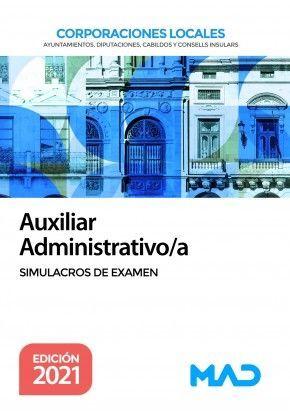 AUXILIAR ADMINISTRATIVO/A CORPORACIONES LOCALES SIMULACROS DE EXAMEN