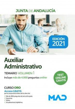 AUXILIAR ADMINISTRATIVO JUNTA DE ANDALUCIA TEMARIO VOLUMEN 1