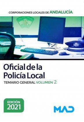 OFICIAL DE LA POLICIA LOCAL COORPORACIONES LOCALES DE ANDALUCIA TEMARIO GENERAL VOLUMEN 2 2001
