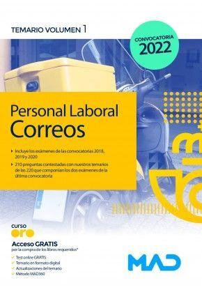 PERSONAL LABORAL CORREOS TEMARIO VOLUMEN 1 CONVOCATORIA 2022