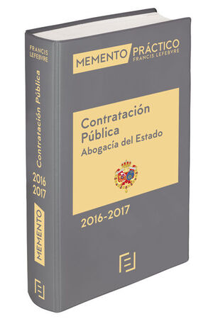 MEMENTO PRÁCTICO CONTRATACIÓN PÚBLICA ABOGACÍA DEL ESTADO 2016-2017