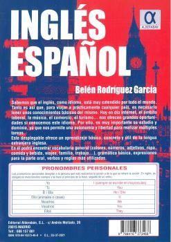 INGLES ESPAÑOL DESPLEGABLE