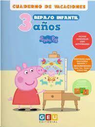 CUADERNO VACACIONES PEPPA PIG REPASO INFANTIL 3 AÑOS