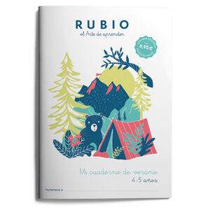 RUBIO MI CUADERNO DE VERANO 4-5 AÑOS