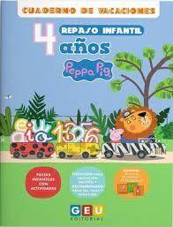 CUADERNO VACACIONES PEPPA PIG REPASO INFANTIL 4 AÑOS