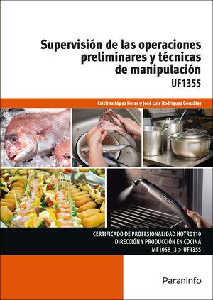 SUPERVISIÓN DE LAS OPERACIONES PRELIMINARES Y TÉCNICAS DE MANIPULACIÓN