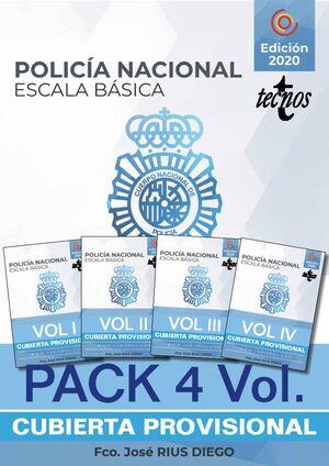 POLICIA NACIONAL ESCALA BASICA TEMARIO DE OPOSICION PAKC 4 VOLUMENES