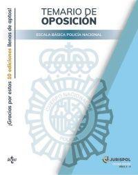 ESTUCHE 4 VOLUMENES TEMARIO OPOSICION POLICIA NACIONAL ESCALA BASICA