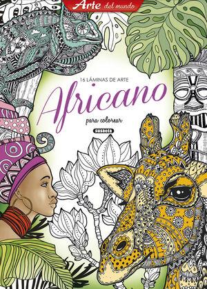 LÁMINAS DE ARTE AFRICANO PARA COLOREAR