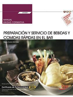 MANUAL PREPARACION Y SERVICIO BEBIDAS Y COMIDAS RÁPIDAS EN EL BAR