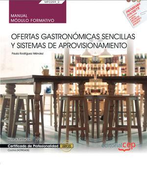 MANUAL OFERTAS GASTRONOMICAS SENCILLAS Y SISTEMAS DE APROVECHAMIENTO