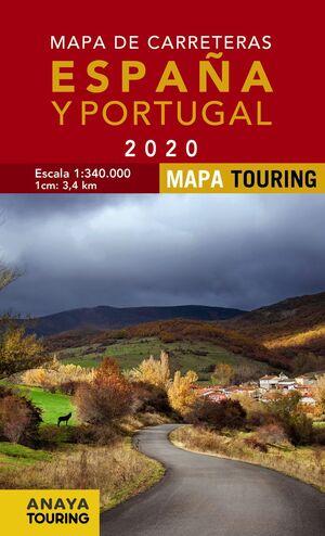 MAPA DE CARRETERAS DE ESPAÑA Y PORTUGAL 2020 1:340.000