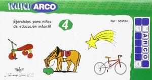 EDUCACIÓN INFANTIL. CUADERNO DE EJERCICIOS 4 REF.505034